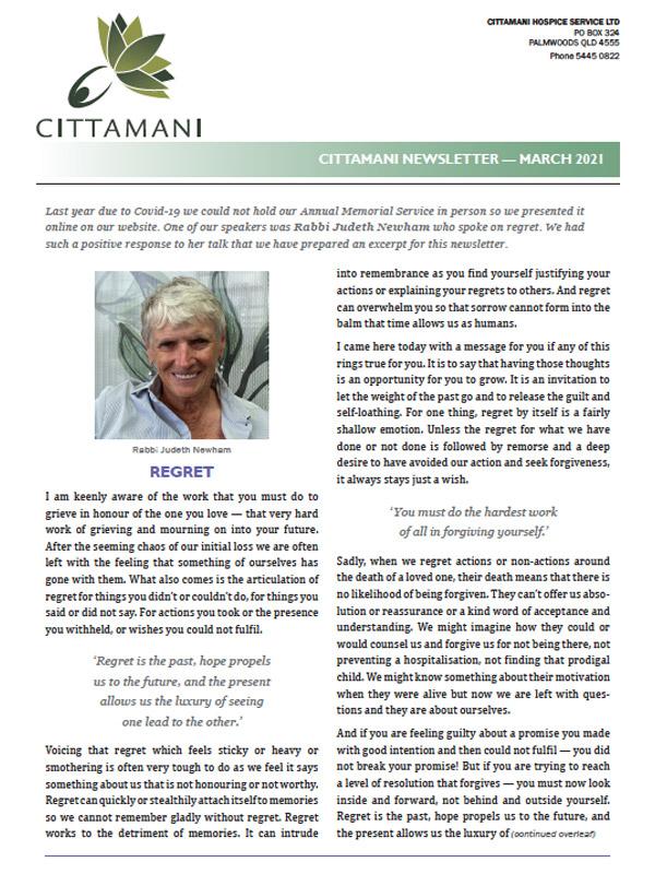 Cittamani Newsletter March 2021